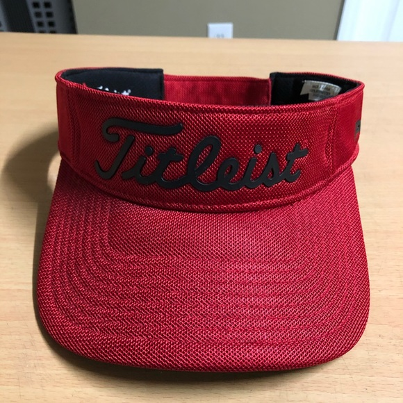 Titleist Red Visor Hat Cap Adjustable NEW